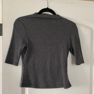 Mock turtle neck knit top